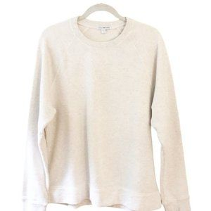 James Perse Cotton French Terry Sweatshirt Beige S